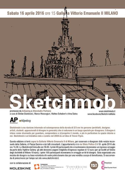 16.04.16 Sketchmob Galleria Vittorio Emanuele Milano